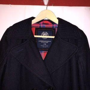 American Eagle Outfitters Jackets & Coats - American eagle small black pea coat women's